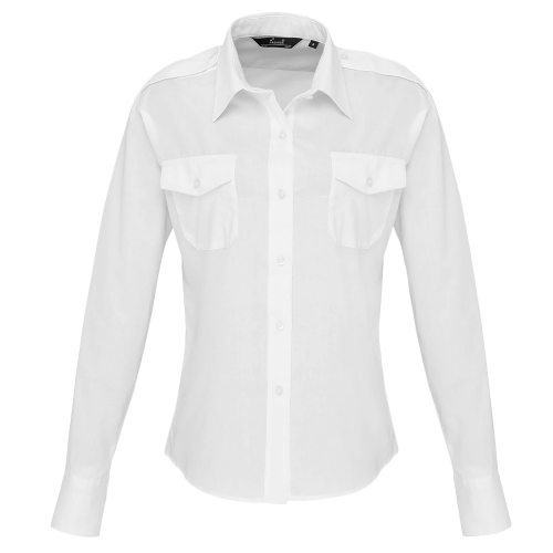 Chemise pilote femme manches longues