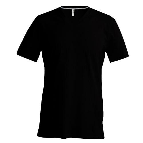 Tee-Shirt col V - black