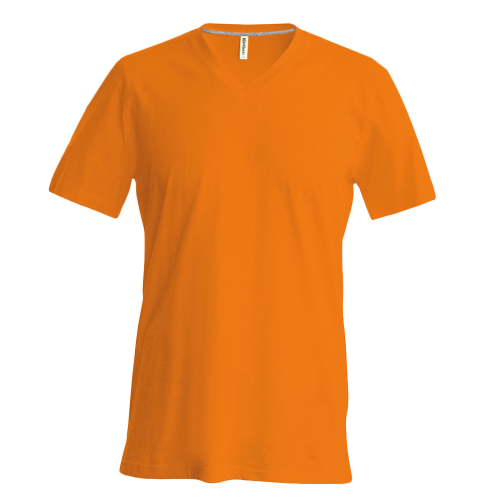 Tee-Shirt col V - orange