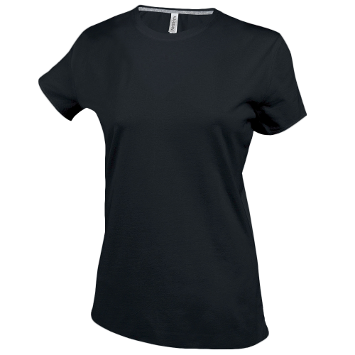 Tee-shirt col rond - black
