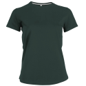 Tee-shirt col rond - forest green