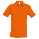 Polo manches courtes - orange