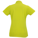 Women polo - lime