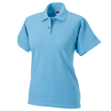 Women polo - sky blue
