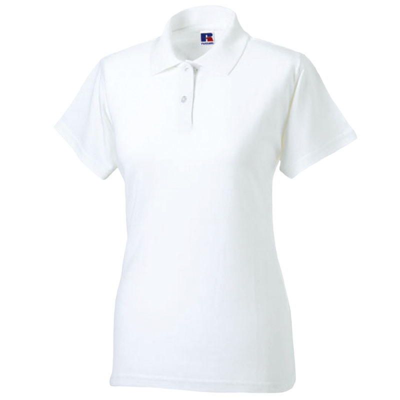 Women polo - white