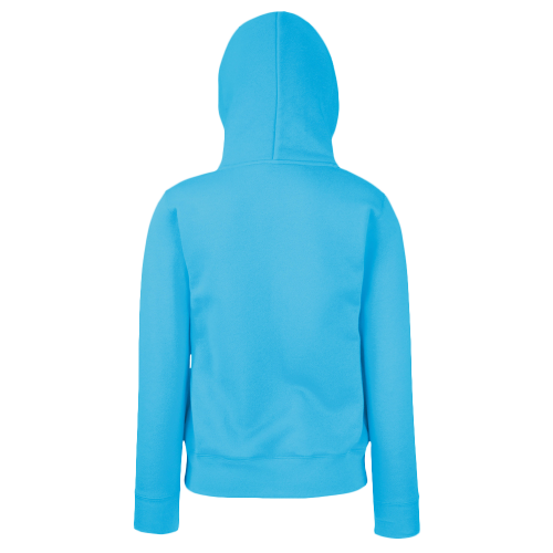 Lady fit zip hooded sweat - azur blue