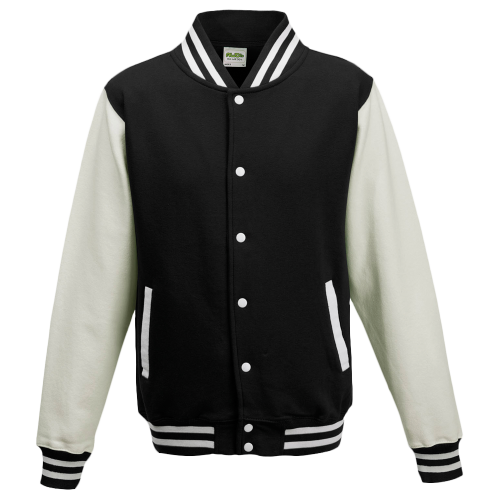 Varsity jacket - black / white