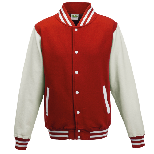 Varsity jacket - fire red / white