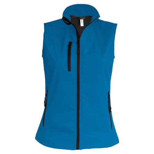 Bodywarmer softshell - aqua blue