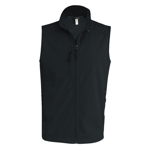 Bodywarmer softshell - black