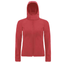 Hooded softshell women - red