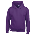 Kids hooded sweat - purple