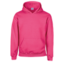 Kids hooded sweat - safety pink