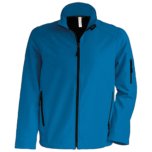 Veste enfant softshell - aqua blue