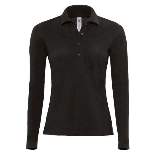 Polo manches longues Femme - black