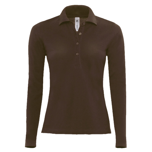 Polo manches longues Femme - brown