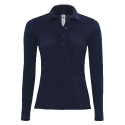 Polo manches longues Femme - navy