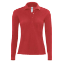 Polo manches longues Femme - red