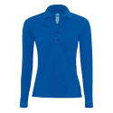 Polo manches longues Femme - royal blue