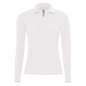Polo manches longues Femme - white