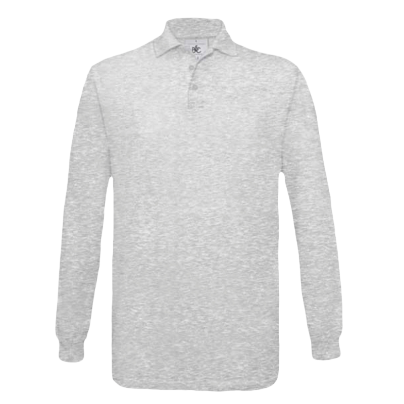 Polo manches longues Homme - ash
