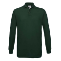 Polo manches longues Homme - bottle green