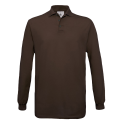 Polo manches longues Homme - brown