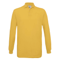 Polo manches longues Homme - gold