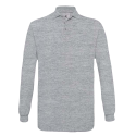 Polo manches longues Homme - heather grey