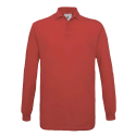Polo manches longues Homme - red