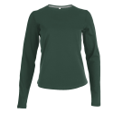 Tee shirt col rond manches longues Femme - forest green