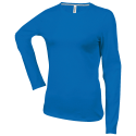 Tee shirt col rond manches longues Femme - light royal blue