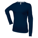 Tee shirt col rond manches longues Femme - navy