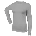 Tee shirt col rond manches longues Femme - oxford grey