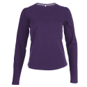 Tee shirt col rond manches longues Femme - purple