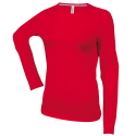 Tee shirt col rond manches longues Femme - red