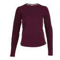 Tee shirt col rond manches longues Femme - wine