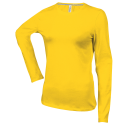 Tee shirt col rond manches longues Femme - yellow