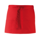 Tablier 3 poches - red