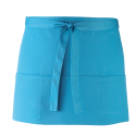 Tablier 3 poches - turquoise