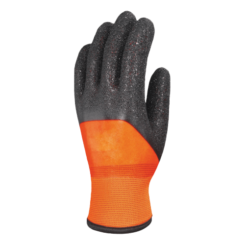 Gants enduction PVC noir