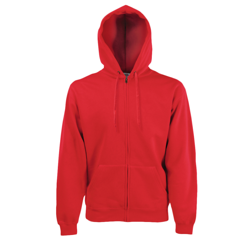 Sweat shirt Capuche zippé Homme - Hooded sweat jacket - red