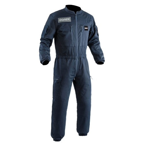 Combinaison S.W.A.T. antistatique mat bleue - face