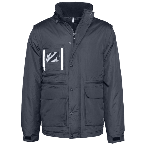 Parka workwear manches amovibles - navy face