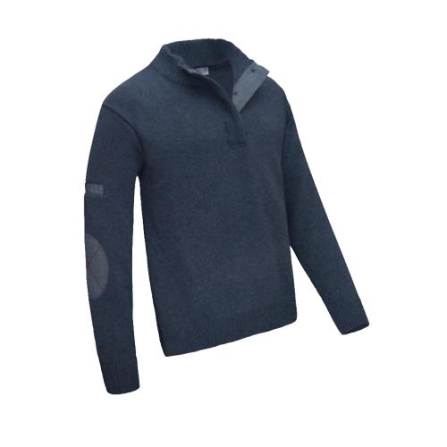 Pull col montant Laine