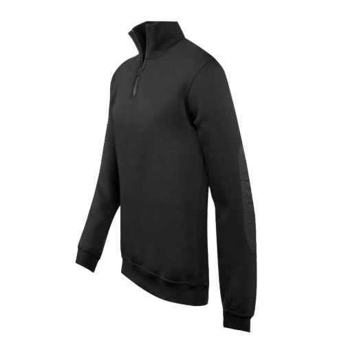 Sweat col montant zip inversé